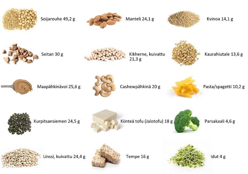 Mistä vegaani saa proteiinia
