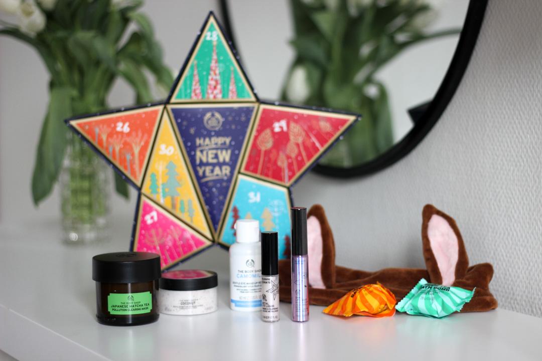 vegan countdown to new year kosmetiikkakalenteri