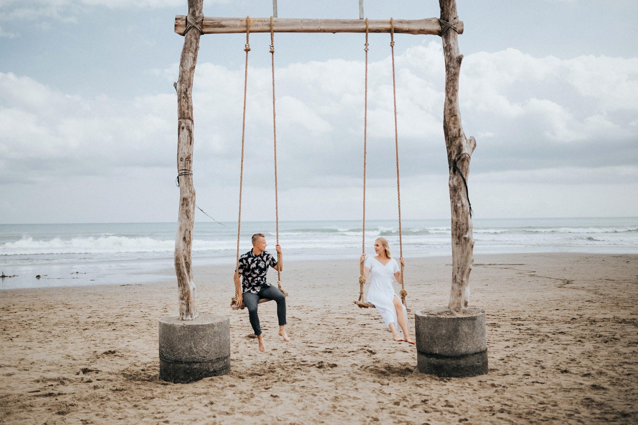 Kihlajaiskuvaukset Balilla