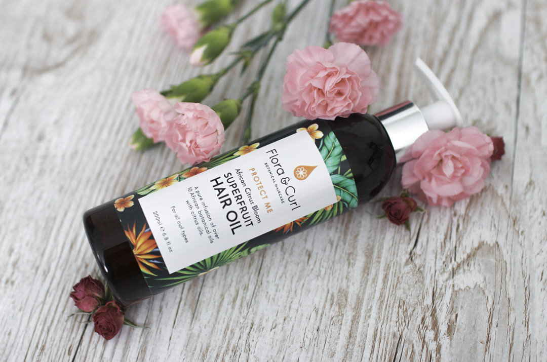 Flora & Curl superfruit hair oil -hiusöljy